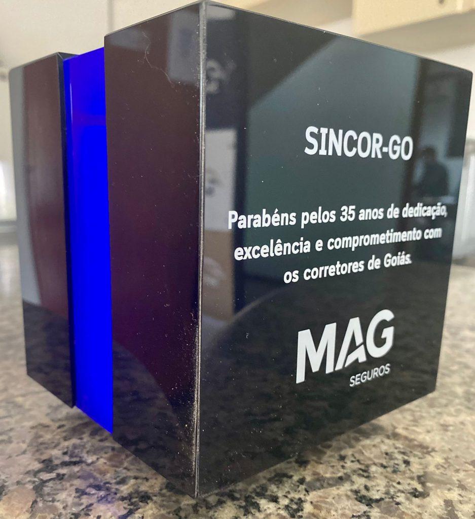 MAG Seguros homenageia o Sincor GO pelos 35 anos
